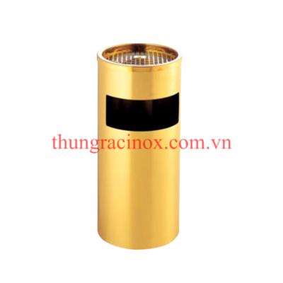 Thùng rác inox tròn A35-A vàng