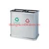 thùng rác inox 2 ngăn phân loại rác A45