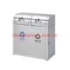 thùng rác inox 2 ngăn phân loại rác A98C