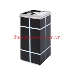 thùng rác inox A69 màu đen