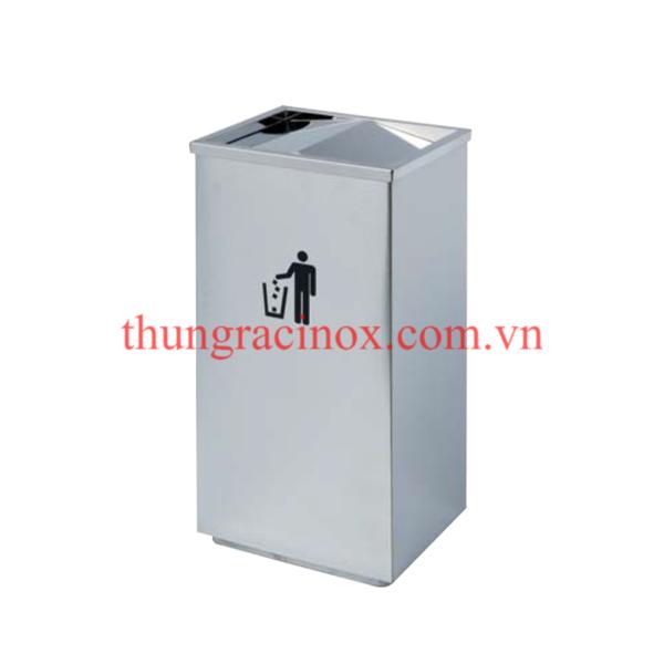 thùng rác inox nắp lật A34-G