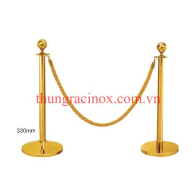 Cột chắn inox dây nhung mạ vàng VB-CT1M - 3