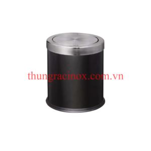 thùng rác nắp lật inox VB-A36H màu đen