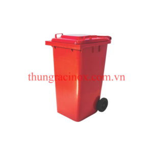 thùng rác nhựa 120 lít màu đỏ