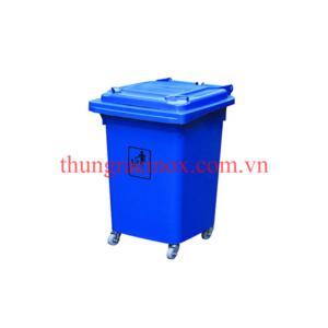 thùng rác nhựa 60 lít màu xanh nước biển