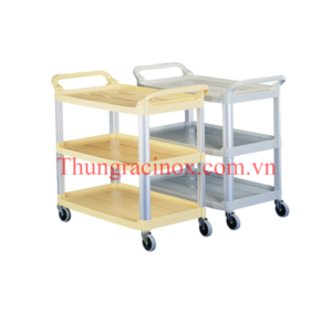 xe trolley don bat dua, ve sinh 3 tang bang nhua TA-04