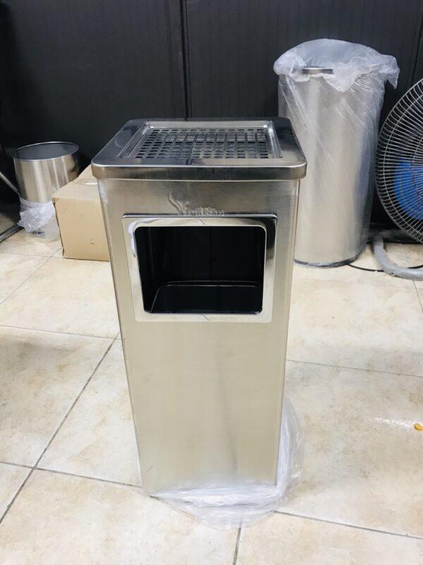 Thùng rác inox vuông Vietbin